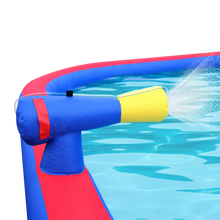 Load image into Gallery viewer, Inflatable Water Park with Large Water Slides and Basketball Hoop