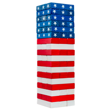 Load image into Gallery viewer, American Flag Toppling Tower with Carrying Case