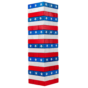 American Flag Toppling Tower with Carrying Case