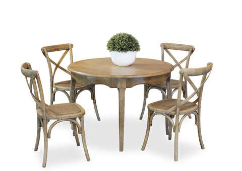 Parisienne 1100 & Cross Back Dining Suite - Antique