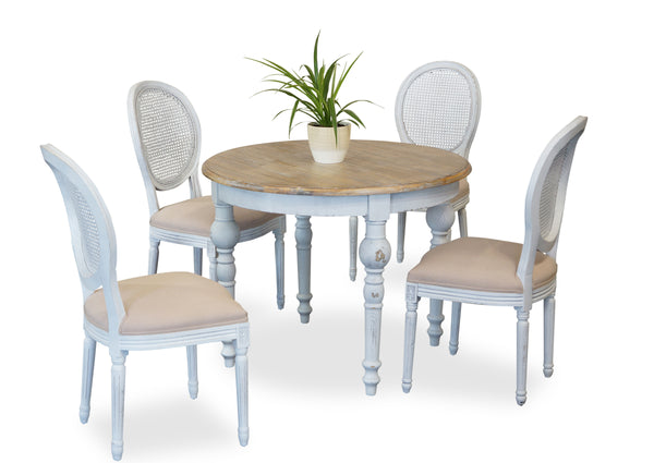 Parisienne 1000 & Motif Dining Suite - White