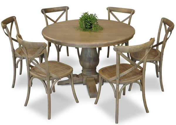 Parisienne 1200 & Cross Back Dining Suite - Antique