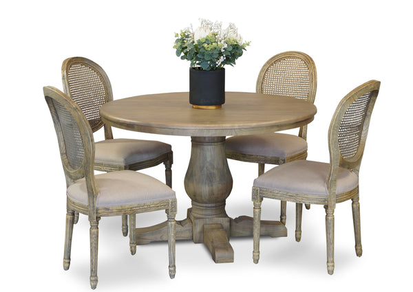 Parisienne 1200 & Motif Dining Suite - Antique