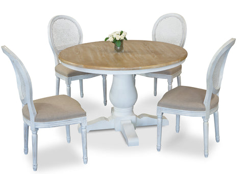 Parisienne 1200 & Motif Dining Suite - White