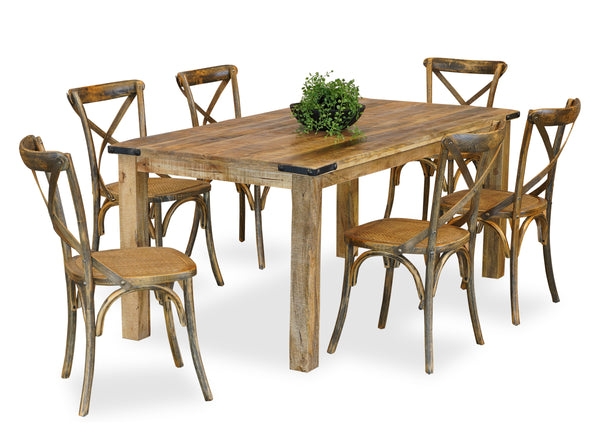 Forge & Cross Back Dining Suite