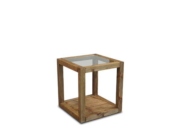 Plantation End Table - Glass