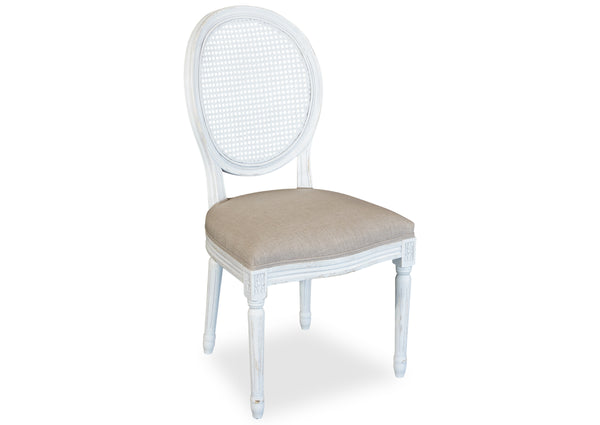 Motif Chair (Cane Back) - White