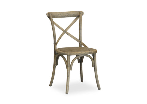 Cross Back Chair - Antique