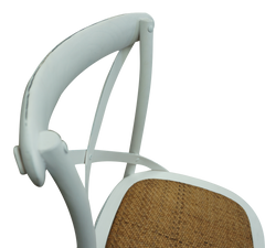 Cross Back Chair - Shabby White