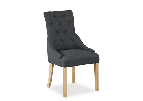 Scoop Back Chair - Dark Grey (Timber Leg)