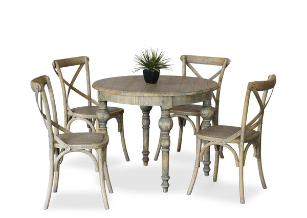 Parisienne 1000 & Cross Back Dining Suite - Antique