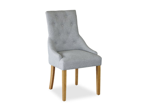 Scoop Back Chair - Light Grey (Timber Leg)