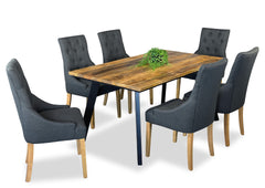 Draper & Scoop Back Dining Suite