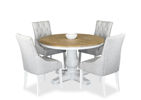 Parisienne 1200 & Scoop Back Dining Suite - White
