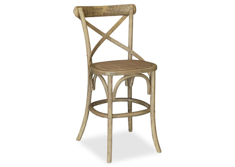 Cross Back Stool - Antique