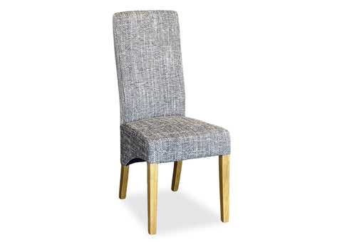 Tweed Parson Chair - Grey (Timber Leg)