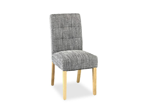 Tweed Chair - Grey (Timber Leg)