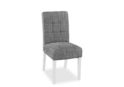Tweed Chair - Grey (White Leg)