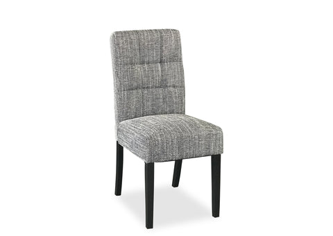 Tweed Chair - Grey (Black Leg)