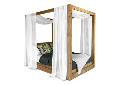 Plantation 4 Poster Canopy Bed (Queen)