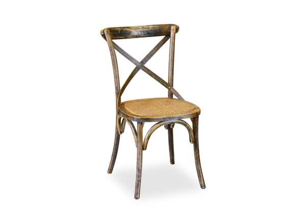 Cross Back Chair - Vintage