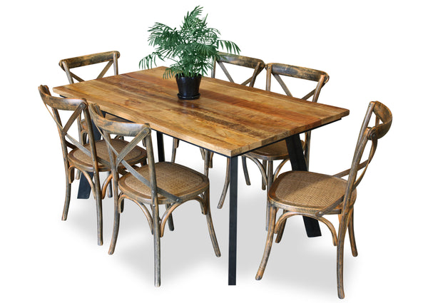 Draper & Cross Back Dining Suite