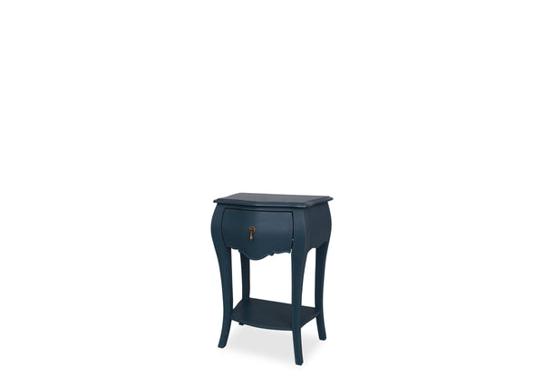 Belle Bedside Table (1 Drawer) - Hamptons Blue