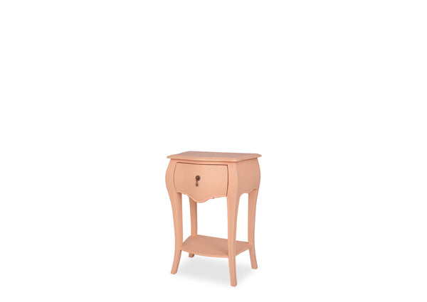 Belle Bedside Table (1 Drawer) - Peach