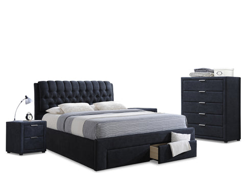 Dusk Tufted Bedroom Set (4 Piece)