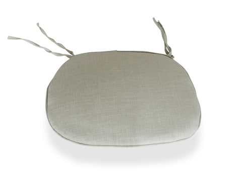 Cross Back Chair Cushion - Grey
