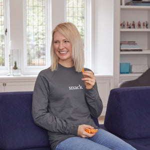 Snack Unisex Grey Crew Neck Sweatshirt