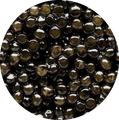 russian black caviar eggs close