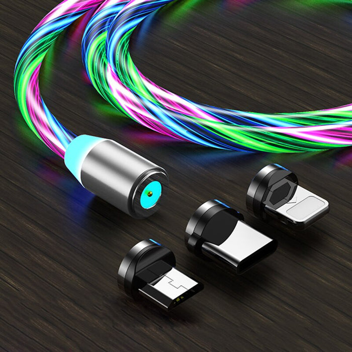 LED Glow Flowing Magnetic Charger Cable