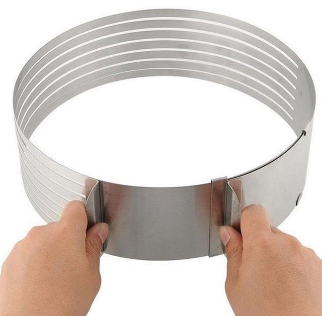 Adjustable Retractable Stainless Steel Cake Layered Slicer