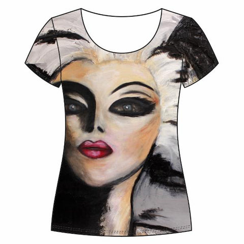 Round neck women's tee, My Neighbour with the White Hair