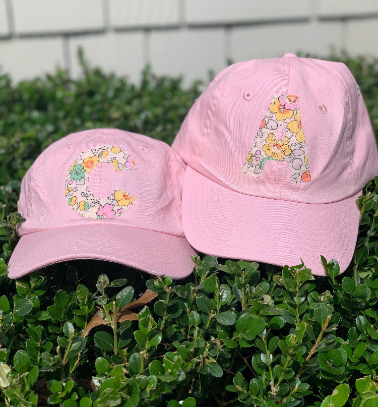 Pink Hat with Pastel Liberty Fabric