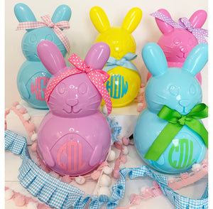 Personalized Easter Bunnies with Bow