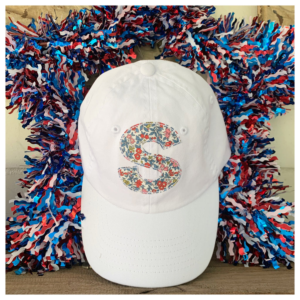 Red, white and blue liberty initial hat!