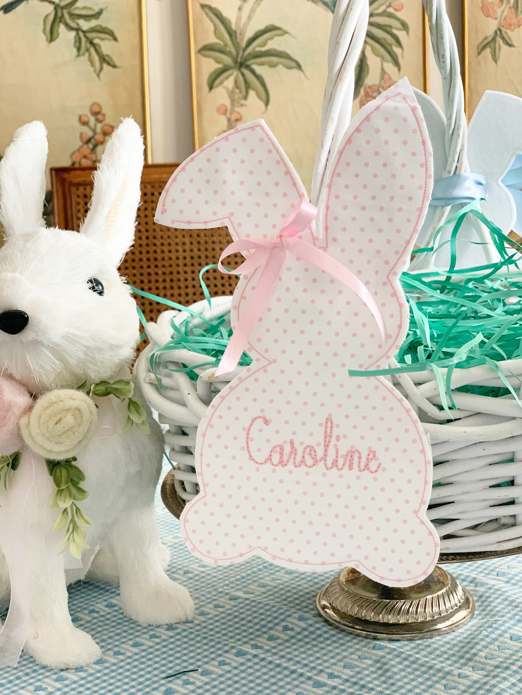 Bunny Easter Basket Tag without Bow