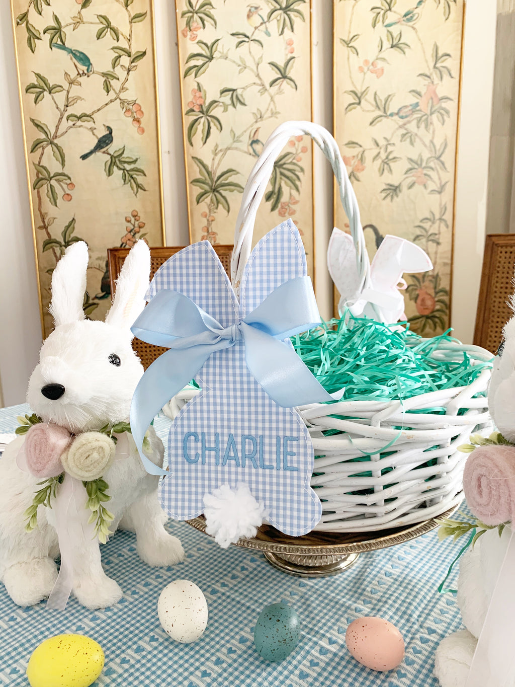 Blue Bunny Easter Basket Tags