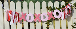 Valentine Red and Pink XOXO Banner