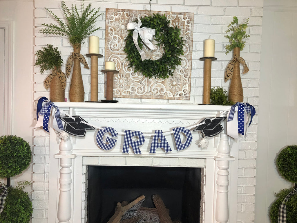 Graduation Banner Choose School Color