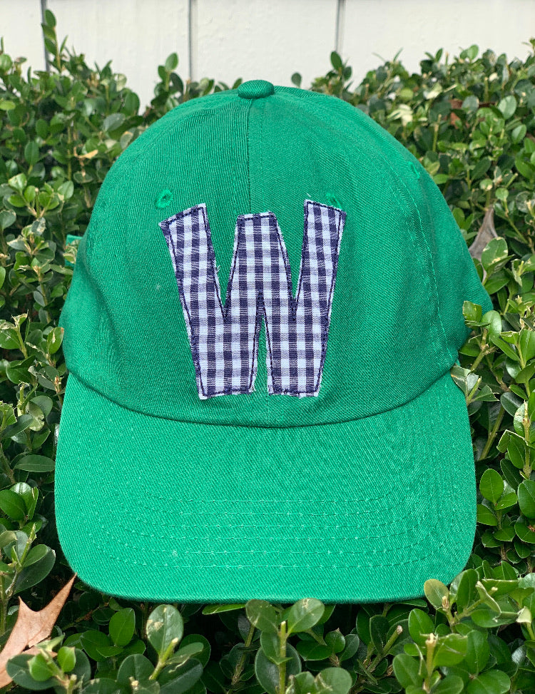 Green Hat Navy Initial