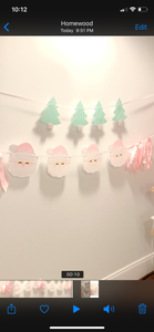 Pink and Red Santa Clause Banner