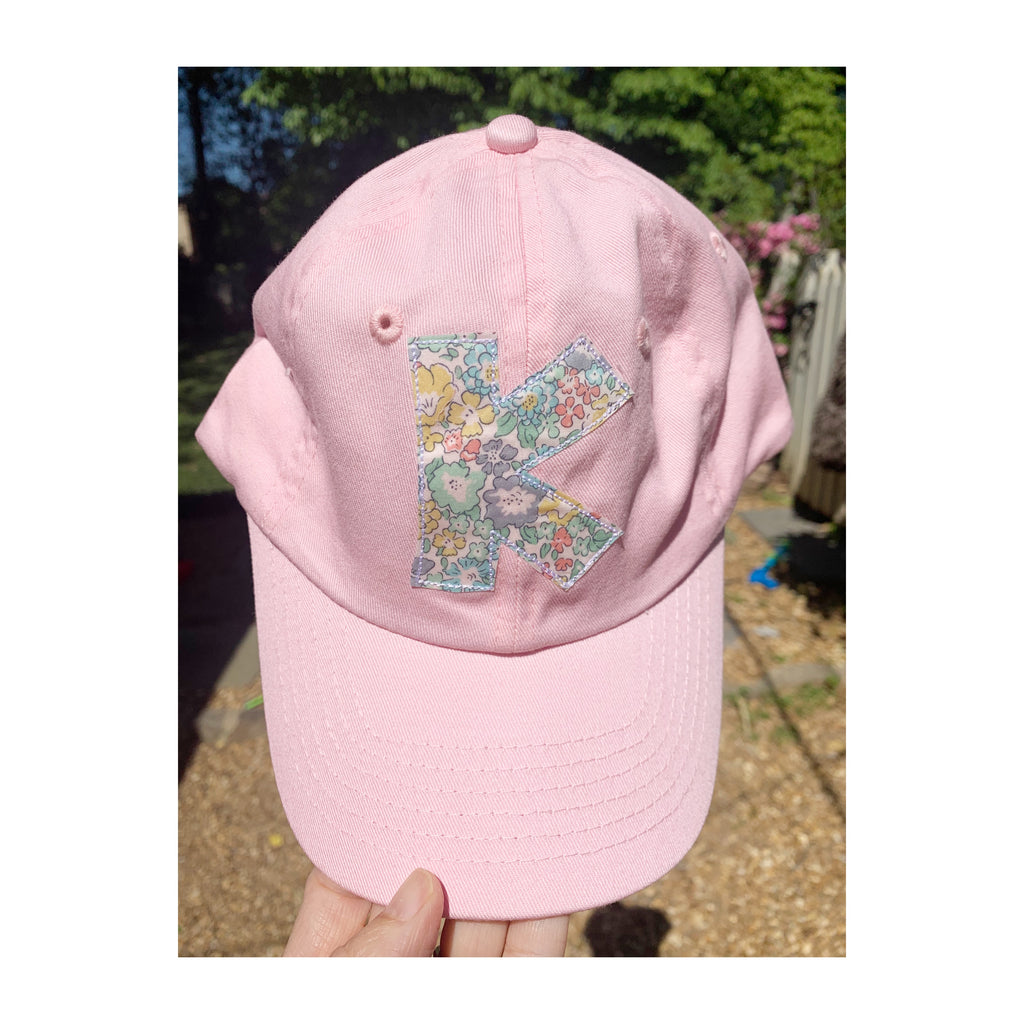 Pink hat with turquoise liberty