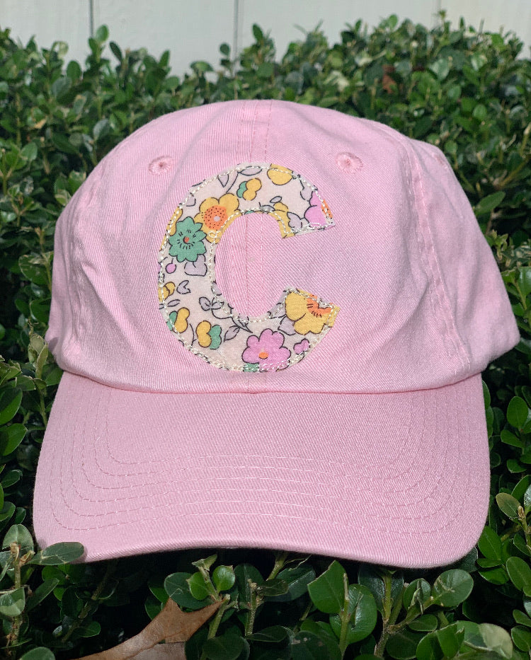 Adult Pink Hat with Pastel Liberty Fabric