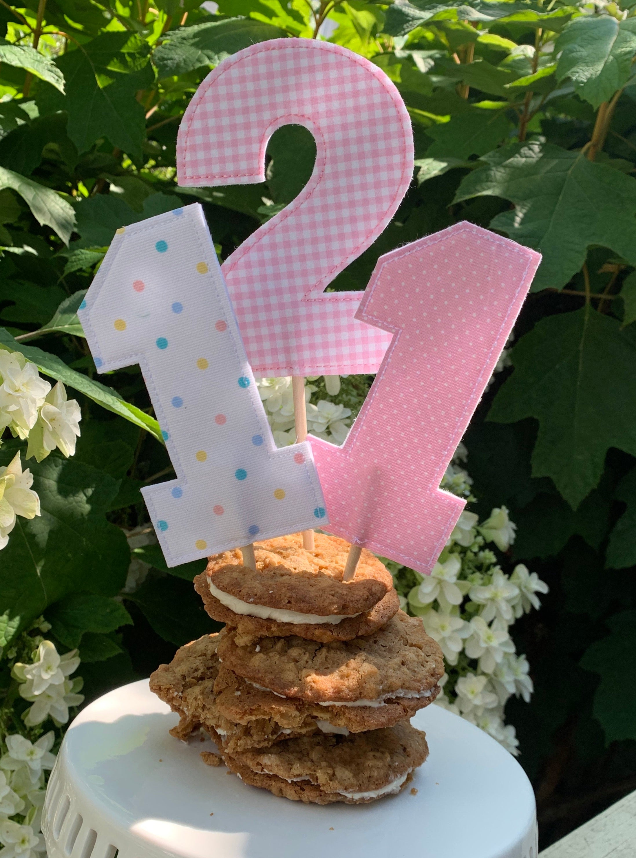 Number Cake Topper without Ribbon