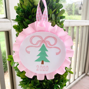 Christmas Tree with Bow Ornament