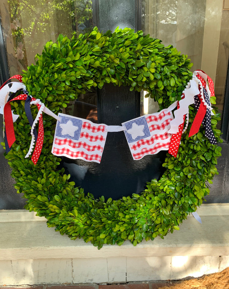 Flag Wreath Decor