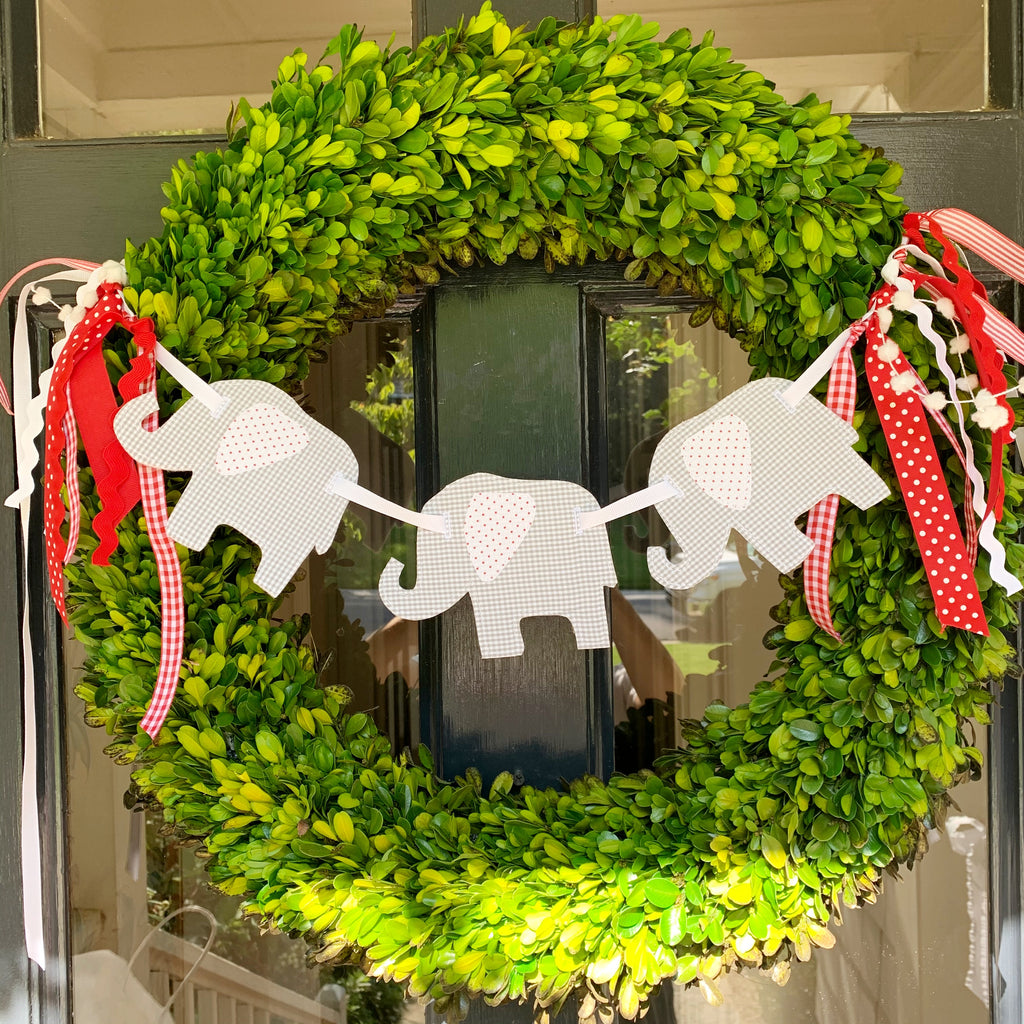 Elephant Wreath Banner